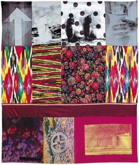 Robert Rauschenberg-Robert Rauschenberg - Samarkand Stitches # V (From Samarkand Stitches)-1988