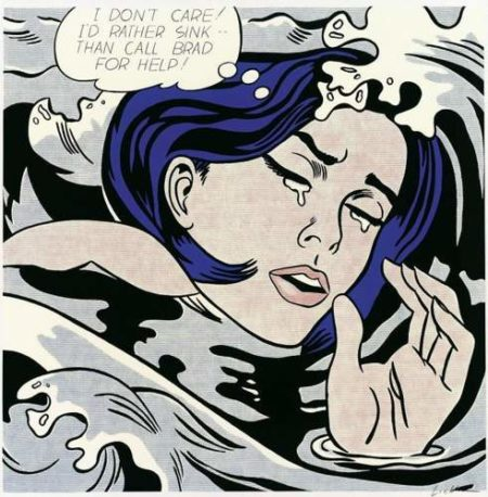 Roy Lichtenstein-Drowning Girl-