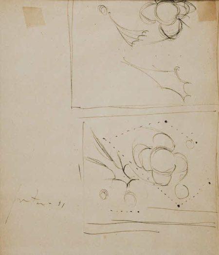 Lucio Fontana-Due studi-1951