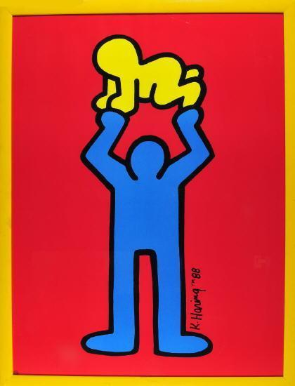 Keith Haring-Keith Haring - Mann mit Kind-1988