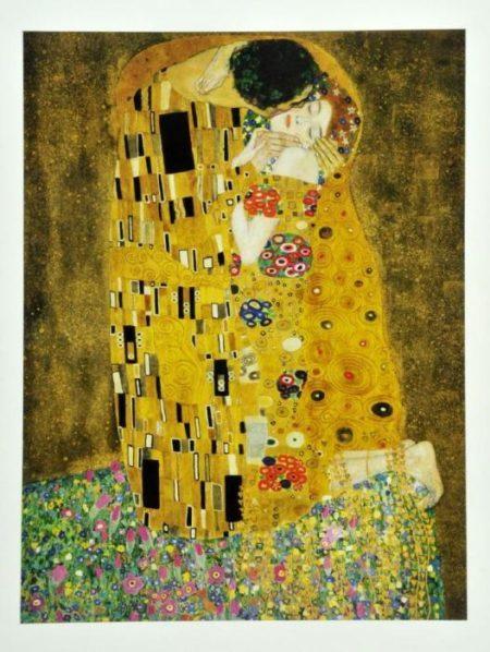 Gustav Klimt-Der Kuss-
