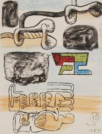 Le Corbusier-Pl. XV, de la suite Unite-1965