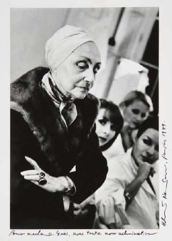 Helmut Newton-Madame Gres, Paris-1979