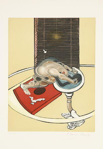 Francis Bacon-L'homme au lavabo, planche pour Eddy Batache, Requiem pour la-1978