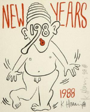 Keith Haring-Keith Haring - New Year Greetings-1988
