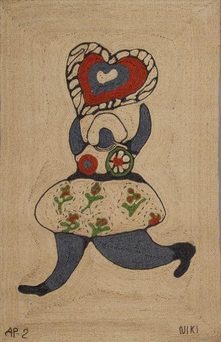 Niki de Saint Phalle-Jute Wall Hanging, (Tapestry)-
