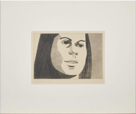 Alex Katz-Nancy, from June Ekman's Class Portfolio-1972