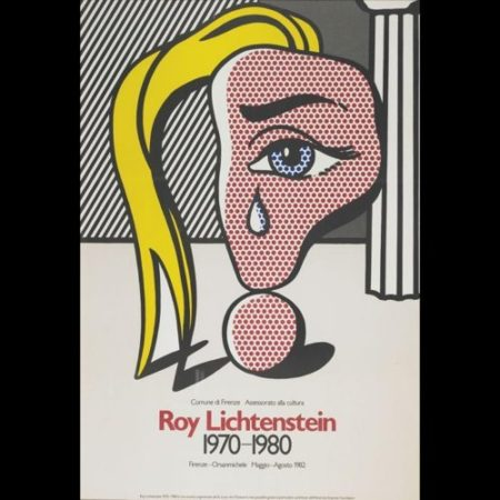 Roy Lichtenstein-Girl with Tear exibition poster (Firenze, Florence)-1982