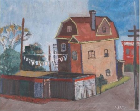 Alex Katz-Queens Houses-1950