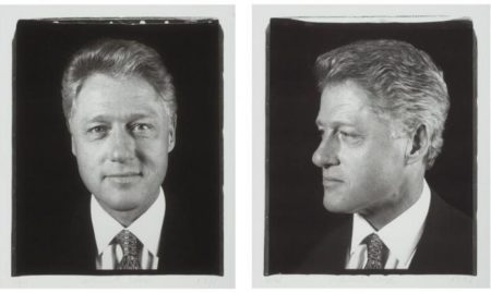 Chuck Close-President Clinton / Diptych / Untitled-1996