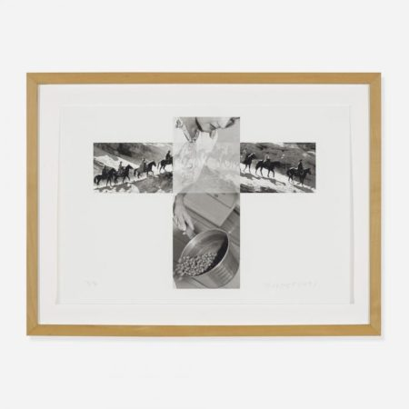 John Baldessari-The Intersection Series: Column of Cowboys/Woman Pouring Peas-2001