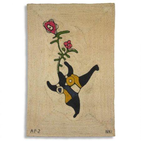 Niki de Saint Phalle-Tapestry, (Jute Wall Hanging)-1975