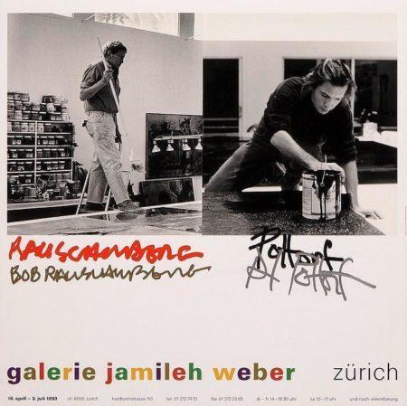 Robert Rauschenberg-Robert Rauschenberg - Ausstellungsplakat Rauschenberg und Pottorf der Galerie Jamileh Weber-1993