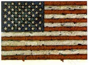 Jasper Johns-Untitled (American flag)-