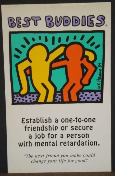 Keith Haring-Keith Haring - Best Buddies-1989