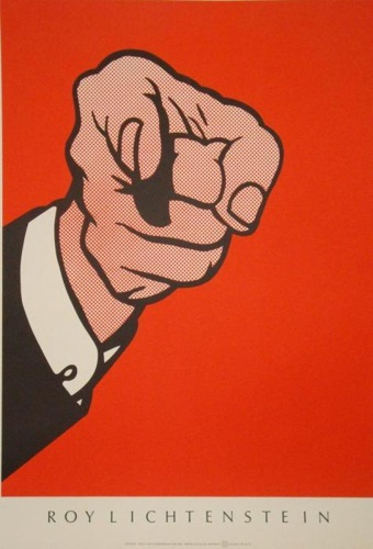 Roy Lichtenstein-Finger Pointing-1989