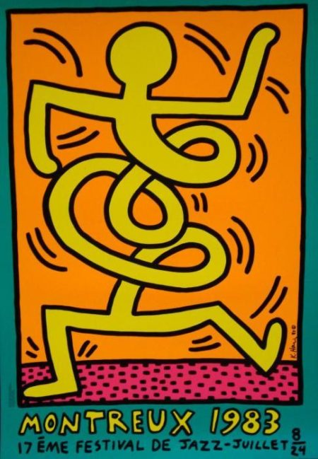 Keith Haring-Keith Haring - Affiche 17e Festival de Jazz a Montreux-1983