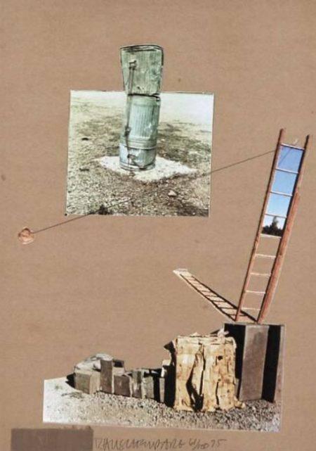 Robert Rauschenberg-Robert Rauschenberg - Composition (Monuments) (From the Man Ray Portfolio)-1975