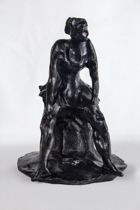 Lucio Fontana-Ballerine Assise, After Lucio Fontana (re-edition) from 1990  ...-