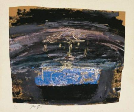 Paul Klee-Skizze Knabenkopf (Sketch 'Head Of A Boy')-1930