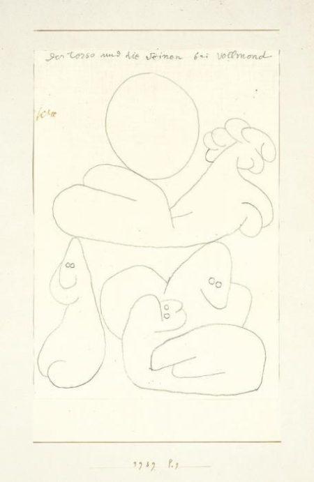 Paul Klee-Der Torso Und Die Seinen Bei Vollmond-1939