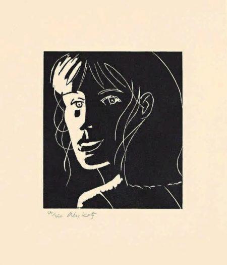 Alex Katz-Cecily (Black)-2002