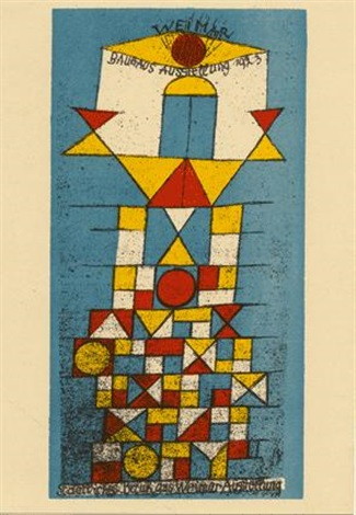 Paul Klee-Die Erhabene Seite (The Sublime Side Postcard For 'Bauhaus Exhibition Weimar')-1923