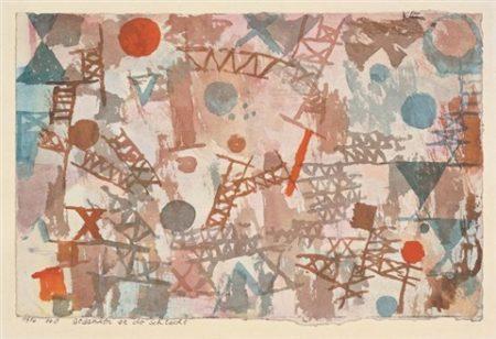 Paul Klee-Gedanken An Die Schlacht (Thoughts Of The Battle)-1914