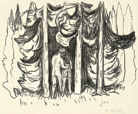 Edvard Munch-Der Wald / Forest Scene / Skogen-1909