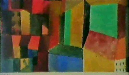 Paul Klee-Ausschnitt einer Stadt (Townscape)-1915