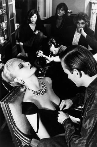 Helmut Newton-Woman being filmed, Paris-1980