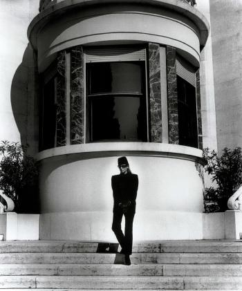 Helmut Newton-Brescia, Italy 11 o'clock, dressed. Brescia, Italy, midday, nude-1981
