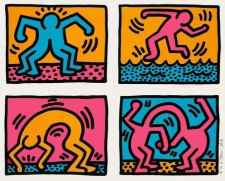 Keith Haring-Keith Haring - Pop Shop Quad II-1988