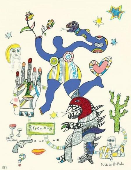 Niki de Saint Phalle-Ohne Titel-
