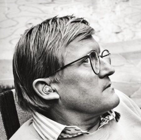 Helmut Newton-Portrait of David Hockney, Los Angeles-1988