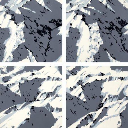Gerhard Richter-Schweizer Alpen I (Swiss Alps I)-1969