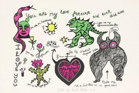 Niki de Saint Phalle-You are my Love forever and ever and ever-1968