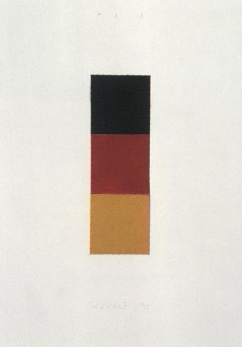Gerhard Richter-Schwarz, Rot, Gold I (Black, Red, Gold I)-1998