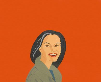Alex Katz-Big Red Smile-1995