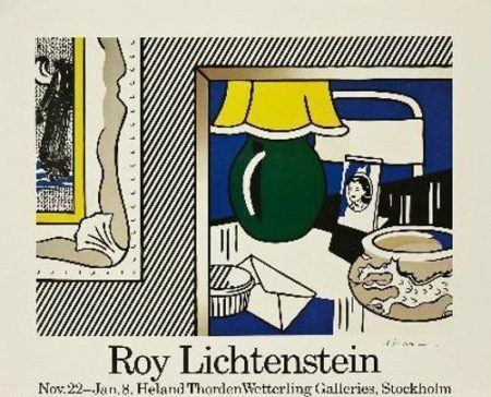 Roy Lichtenstein-Two Paintings: Gree Lamp-1986