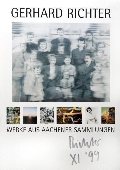 Gerhard Richter-Ausstellungsplakat 'Gerhard Richter, Werke aus Aachener Sammlungen'-1999