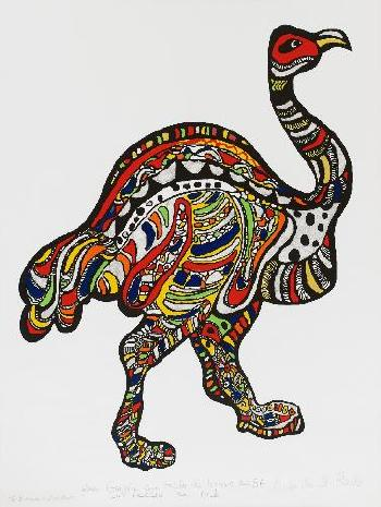 Niki de Saint Phalle-L'autruche (1996)-1996