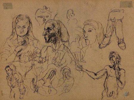 Lucio Fontana-Studio di volti-1930
