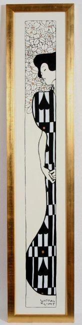 Gustav Klimt-Silhouette II-