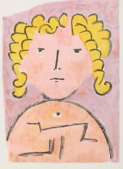 Paul Klee-Tete D'enfant-1939