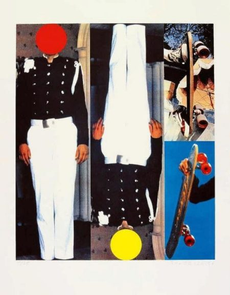 John Baldessari-Two Secret Figures / Two Skateboards-1995