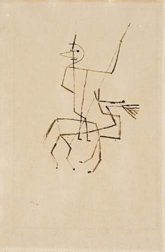 Paul Klee-Reiter Mit Lanze (Horseman With Lancet)-1929