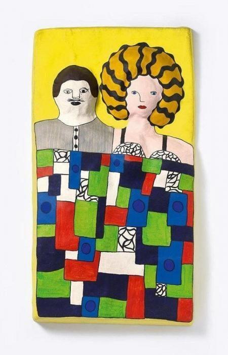 Niki de Saint Phalle-Lit (Last night I had a dream)-1968
