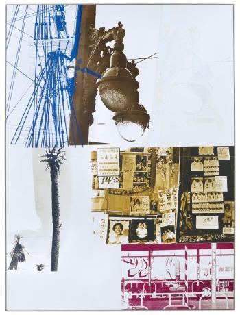 Robert Rauschenberg - Narcissus/ROCI USA (Wax Fire Works)-1990