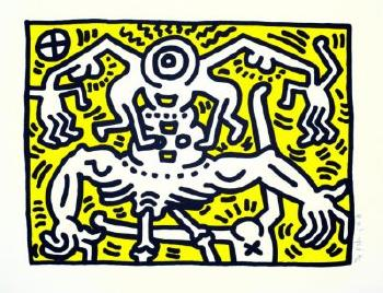Keith Haring-Keith Haring - Untitled (C.R. Littmann, p. 62.)-1986